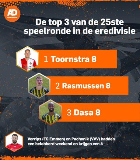 Scorende Toornstra blinkt uit bij Feyenoord, dramatisch optreden Verrips en Pachonik