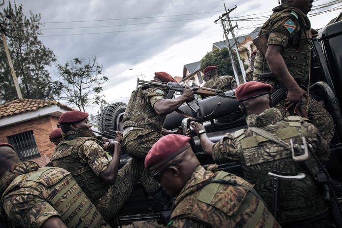 Congolese soldaten. Archiefbeeld.