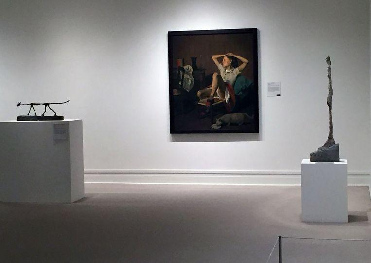 Het werk 'Thérèse Dreaming' in het MET in New York. Beeld AFP
