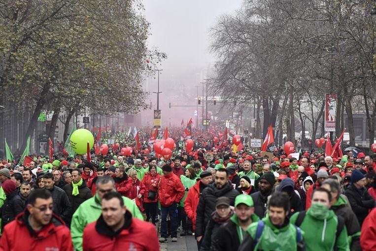 De betoging in december 2017.  Beeld belgaimage