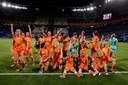 De gouden plakken van Dafne Schippers, de successen van de Oranjevrouwen (foto boven na het behalen van de WK-finale afgelopen zomer) en de transfer van Lieke Martens naar het grote FC Barcelona. ,,De vrouwensport heeft zich de afgelopen jaren enorm ontwikkeld'', weet ook Kanessa.