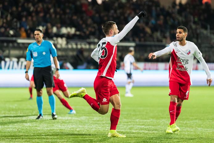 Bart Ramselaar heeft FC Utrecht fraai op gelijke hoogte gebracht.
