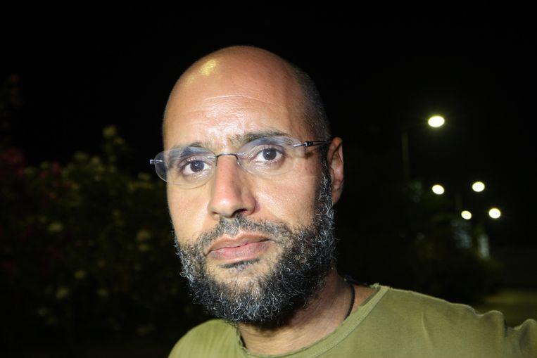 Saif al-Islam Kadhafi, zoon van Mouammar Kadhafi. Beeld AFP
