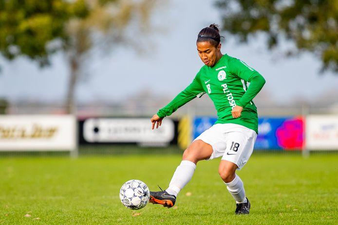 09-11-2019: Voetbal: Aarlanderveen v Blauw Zwart: Aarlanderveen3e klasse A - Seizoen 2019-2020#18 Bryan de Heer (Aarlanderveen)