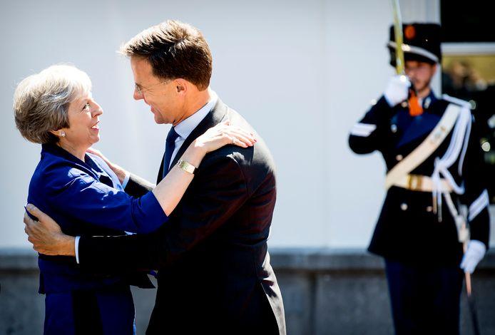 Minister-president Mark Rutte ontving zijn Britse ambtgenoot Theresa May in juli ook al voor een werklunch op het Catshuis in Den Haag.