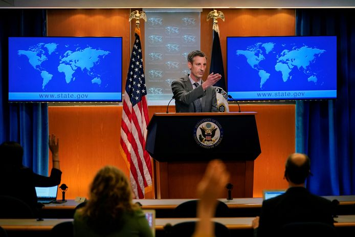 """Ned Price, woordvoerder van Buitenlandse Zaken: ,,De discussies worden gevoerd."""""""