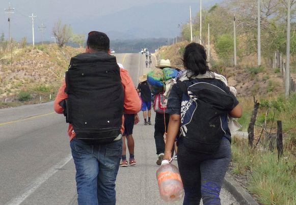 De tocht van Guatemala naar de grens tussen Mexico en de VS is meer dan 3.000 kilometer lang.