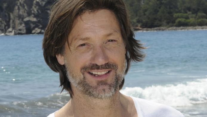 Rick Engelkes tijdens opnames van Verliefd op Ibiza.
