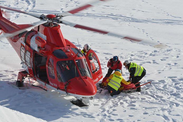 Ford werd in een helikopter overgebracht naar het ziekenhuis.