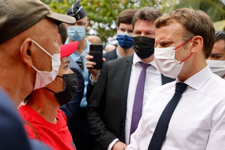 Het is niet de eerste keer dat Emmanuel Macron openheid belooft om af te rekenen met de donkere bladzijden uit de Franse geschiedenis. Beeld AFP