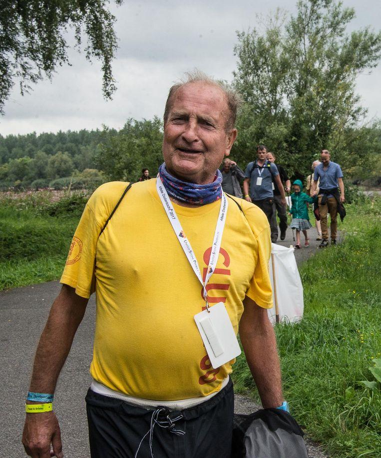Hugo Bonnyns (76) haalde opnieuw de finish. Vandaag wandelt hij de 30 kilometer in Zelem.