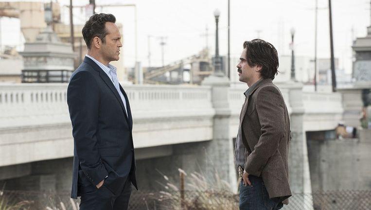 Frank Semyon (L) en Ray Velcoro, gespeeld door Vince Vaughn en Colin Farrell Beeld HBO