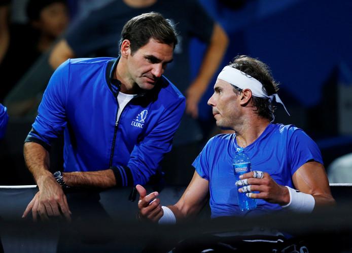 Roger Federer en Rafael Nadal.