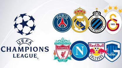 Eden Hazard komt naar Brugge! Club treft Real, PSG en Galatasaray. Genk in poule met Liverpool, Napoli en Salzburg