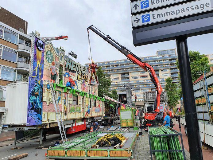 Bij Heroes City wordt Iron Man weer de vrachtwagen opgehesen.