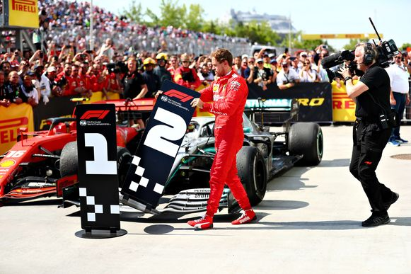 Sebastian Vettel vorig jaar in Montréal.