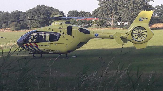 De traumahelikopter werd opgeroepen.