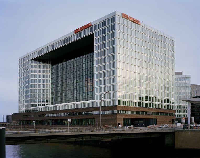 Het hoofdkwartier van Der Spiegel in Hamburg.