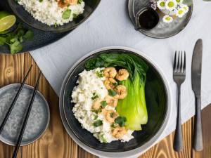 Wat Eten We Vandaag: Kokos-bloemkoolrijst met garnalen