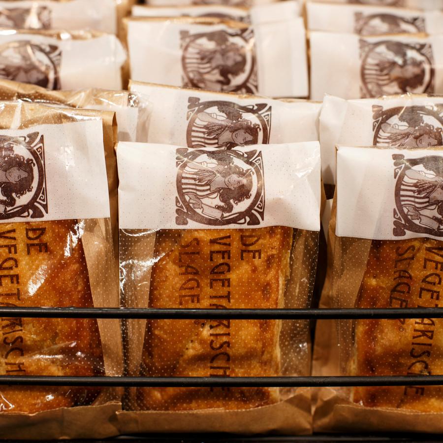 Saussijzenbroodjes van de Vegetarische Slager.