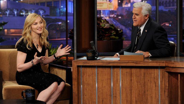 Madonna bij Jay Leno. Beeld getty