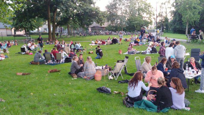 Picknicken in het Julianapark in Veghel.