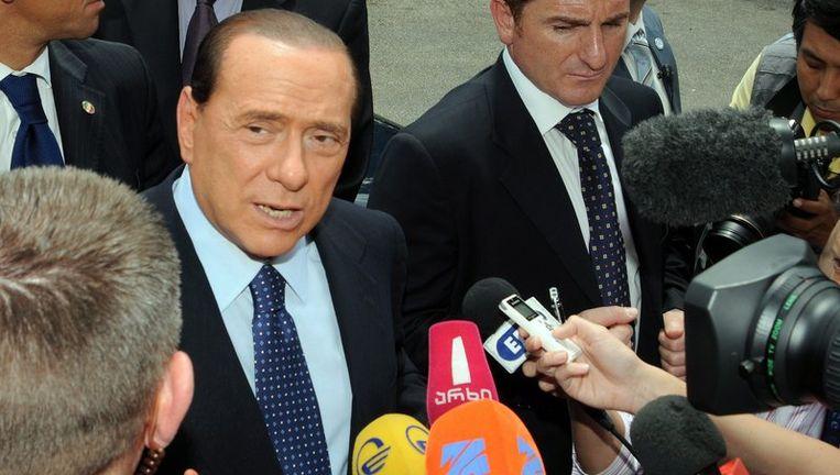 Berlusconi heeft dit weekeinde een miljoen dollar schadevergoeding geëist van het conglomeraat Espresso, uitgever van onder meer La Repubblica. Foto EPA Beeld