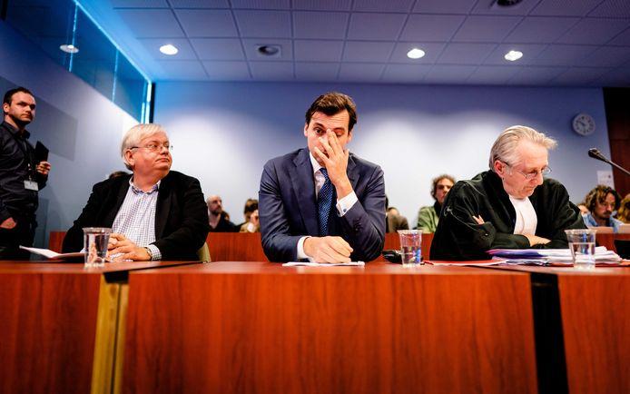 Thierry Baudet in de rechtbank voor het kort geding tegen de VPRO