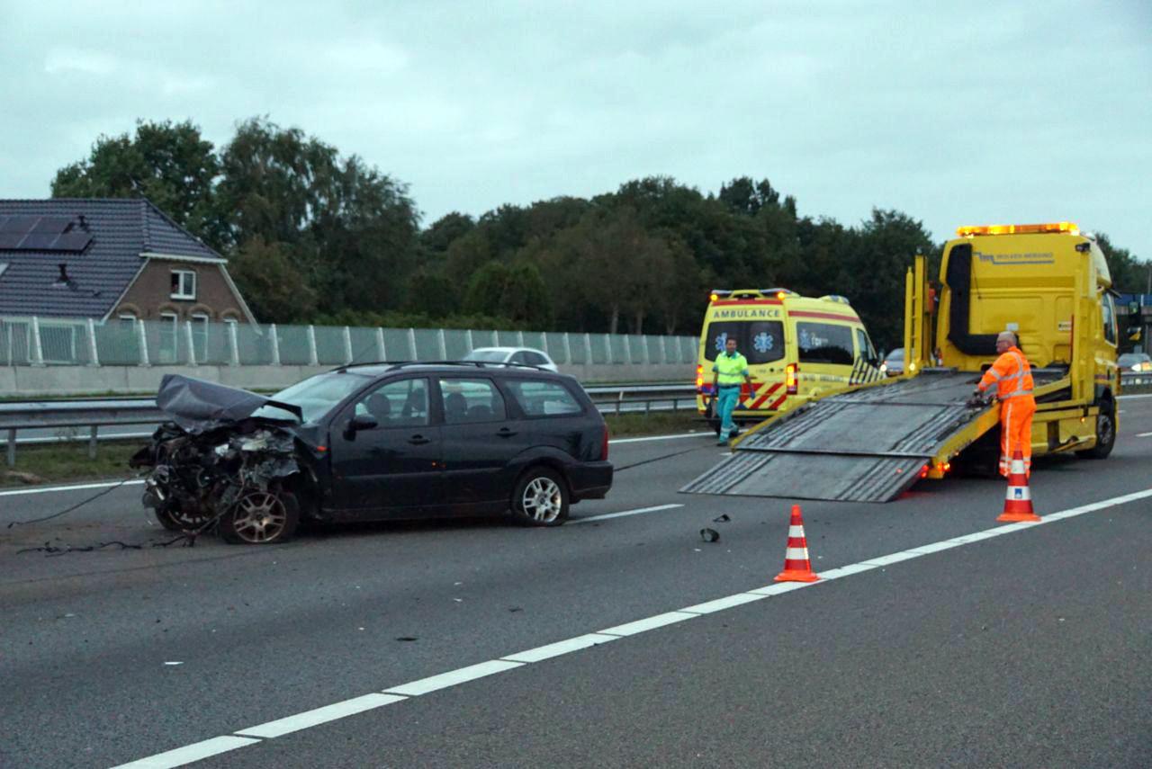 Ongeval op de A28 in Zwolle