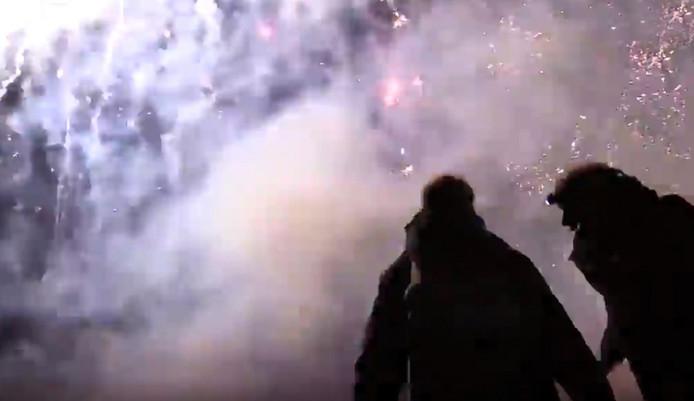 De vuurwerkshow in IJsselstein. Niet iedereen was er blij mee.