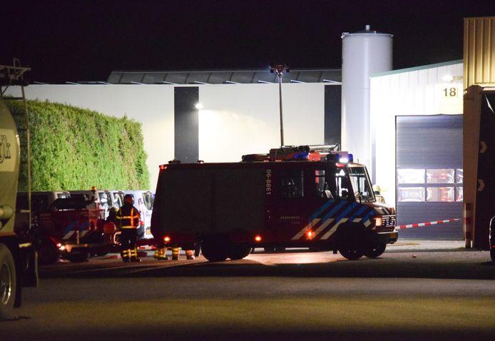 Bij het bedrijf Kaak in Terborg was een stikstoftank lek. Dit heeft niet voor gevaar gezorgd.