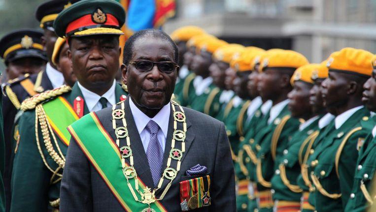 Robert Mugabe was sinds 1980 aan de macht in Zimbabwe. Beeld ap