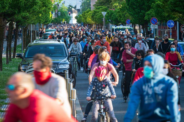 Slovenen protesteerden mei vorig jaar in de hoofdstad Ljubljana tegen de rechtse regering. Beeld AFP