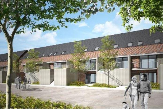 Het nieuwe project in de Kattenstraat en Grote Bassinstraat.