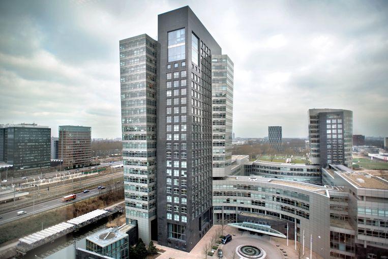 Het ABN Amro-hoofdkantoor in Amsterdam. (ANP) Beeld Joost van den Broek