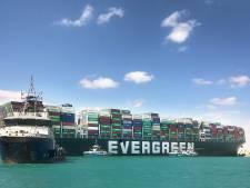 Containerschip dat het Suezkanaal blokkeerde, kan verder varen naar Rotterdam