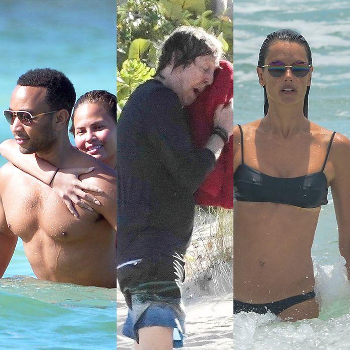 Onder andere John Legend en Chrissy Teigen, zanger Paul McCartney en model Alessandra Ambrosio vertoefden de voorbije dagen op het eiland St. Barths.