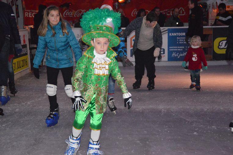 Carnaval On Ice op de schaatspiste in Ninove tijdens een vorige editie.