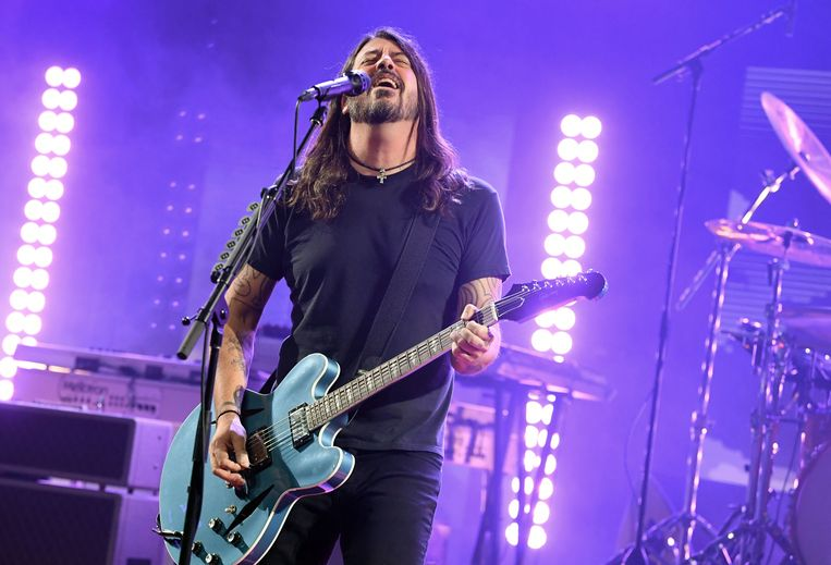Dave Grohl van de Foo Fighters op 28 januari 2021 in Burbank, Californië, op het 2021 iHeartRadio ALTer EGO-evenement. Beeld Getty Images for iHeartMedia