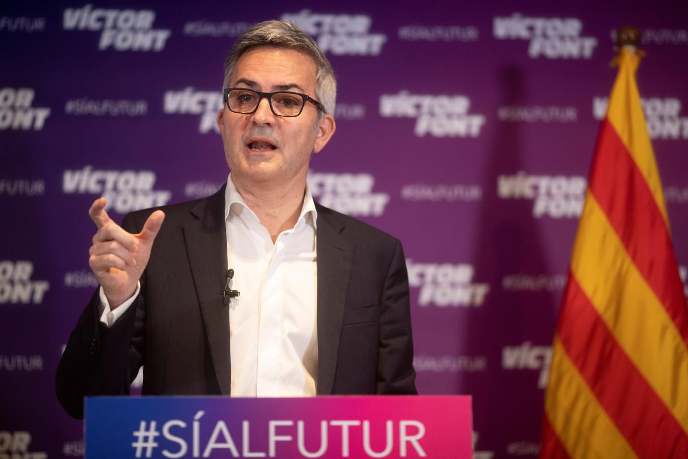 Victor Font, een van de drie kandidaten om voorzitter van FC Barcelona te worden.