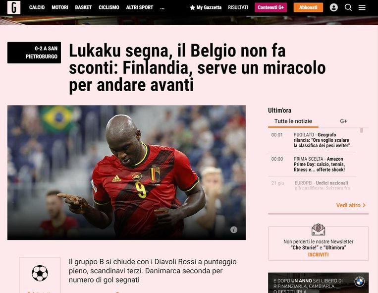 . Beeld La Gazzetta dello Sport