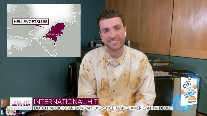 Duncan Laurence was eerder al te gast bij The Today Show.
