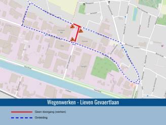Kruispunt Kachtemsestraat en Lieven Gevaertlaan afgesloten