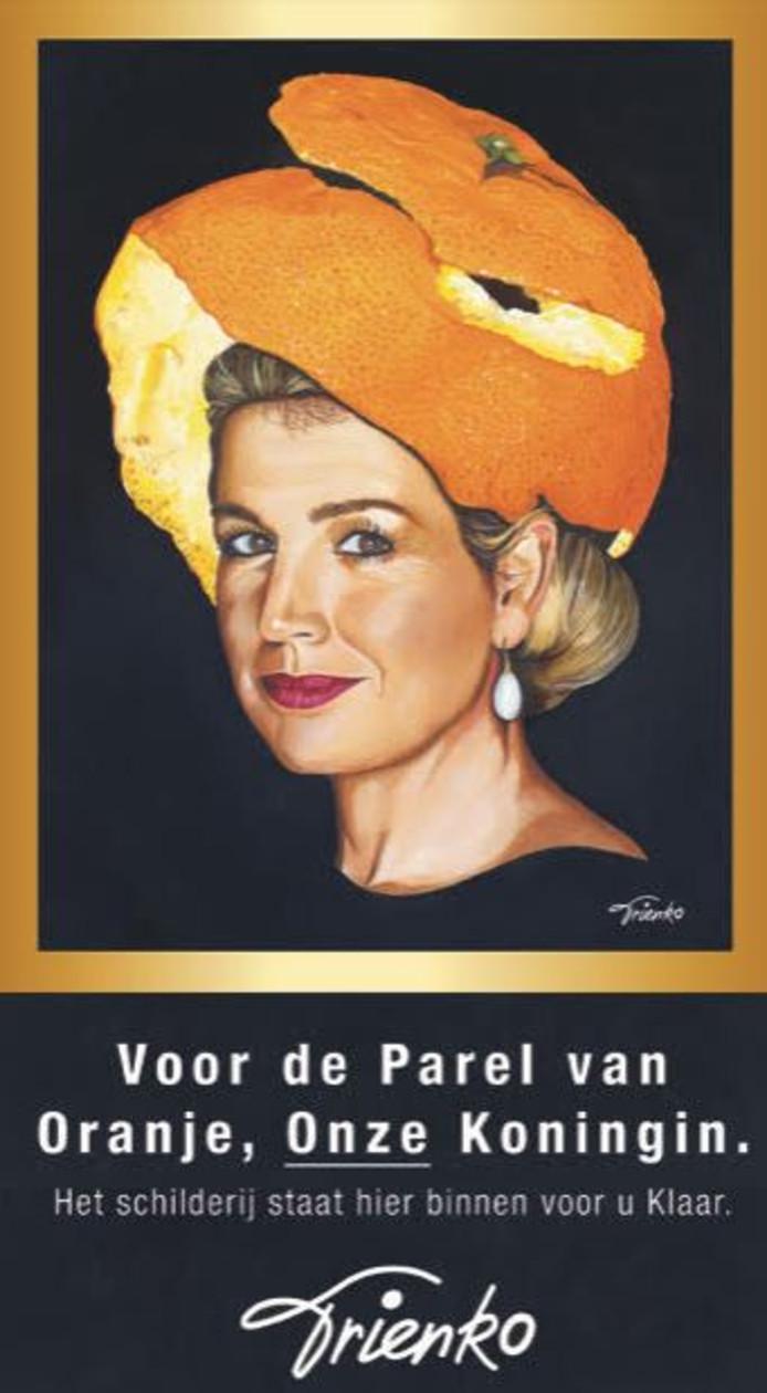 Het schilderij op een poster die Bergmeester zaterdag op De Observant hangt.