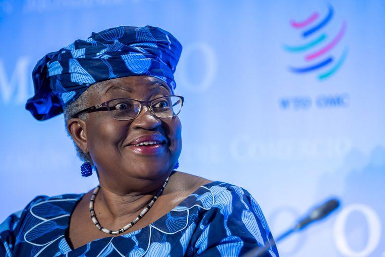 Ngozi Okonjo-Iweala was eerder minister van Financiën en van Buitenlandse Zaken in haar geboorteland Nigeria. Beeld EPA