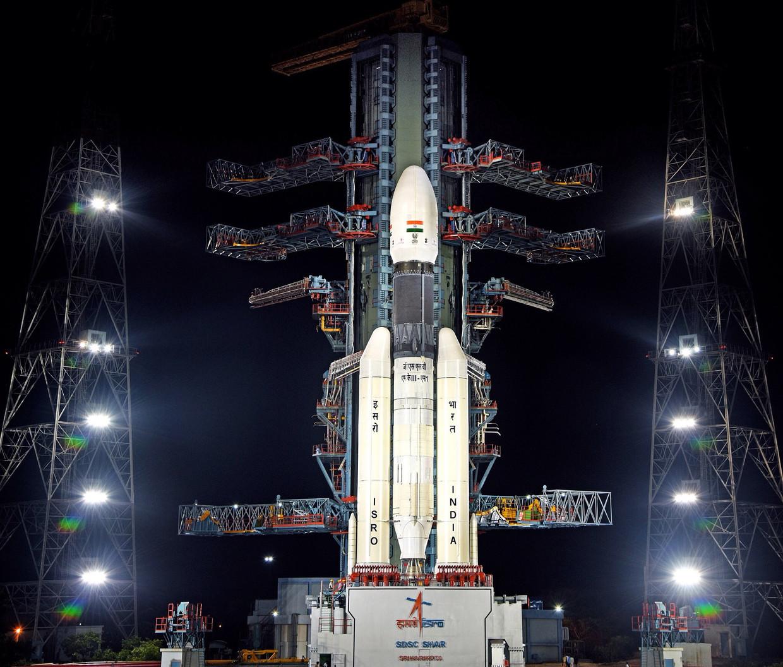 India's eerste maanlander Chandrayaan-2.  Beeld EPA