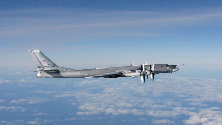 Een Russische 'Bear'-bommenwerper. Beeld EPA
