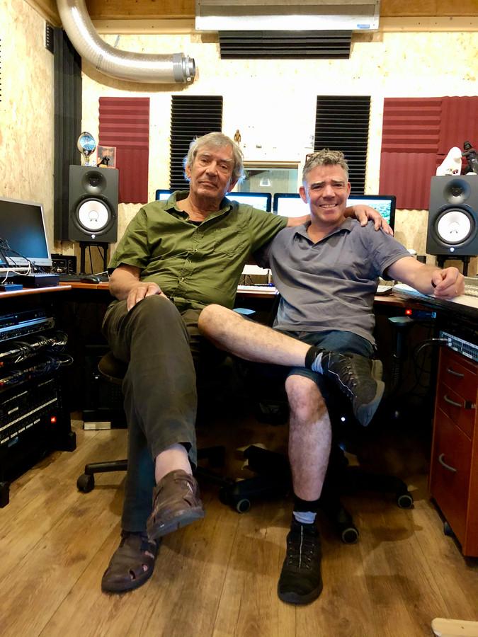 Frank & Onno Witte in de studio in Baarle-Nassau - foto Willem Jongeneelen