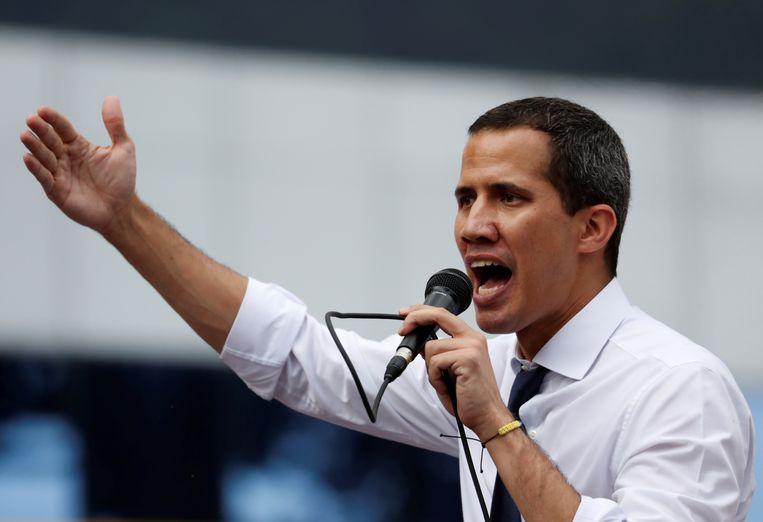 De Venezolaanse oppositieleider Juan Guaido. Beeld REUTERS