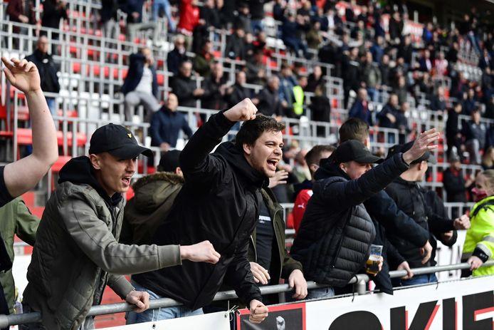 PSV-supporters in april, tijdens het duel met FC Groningen.